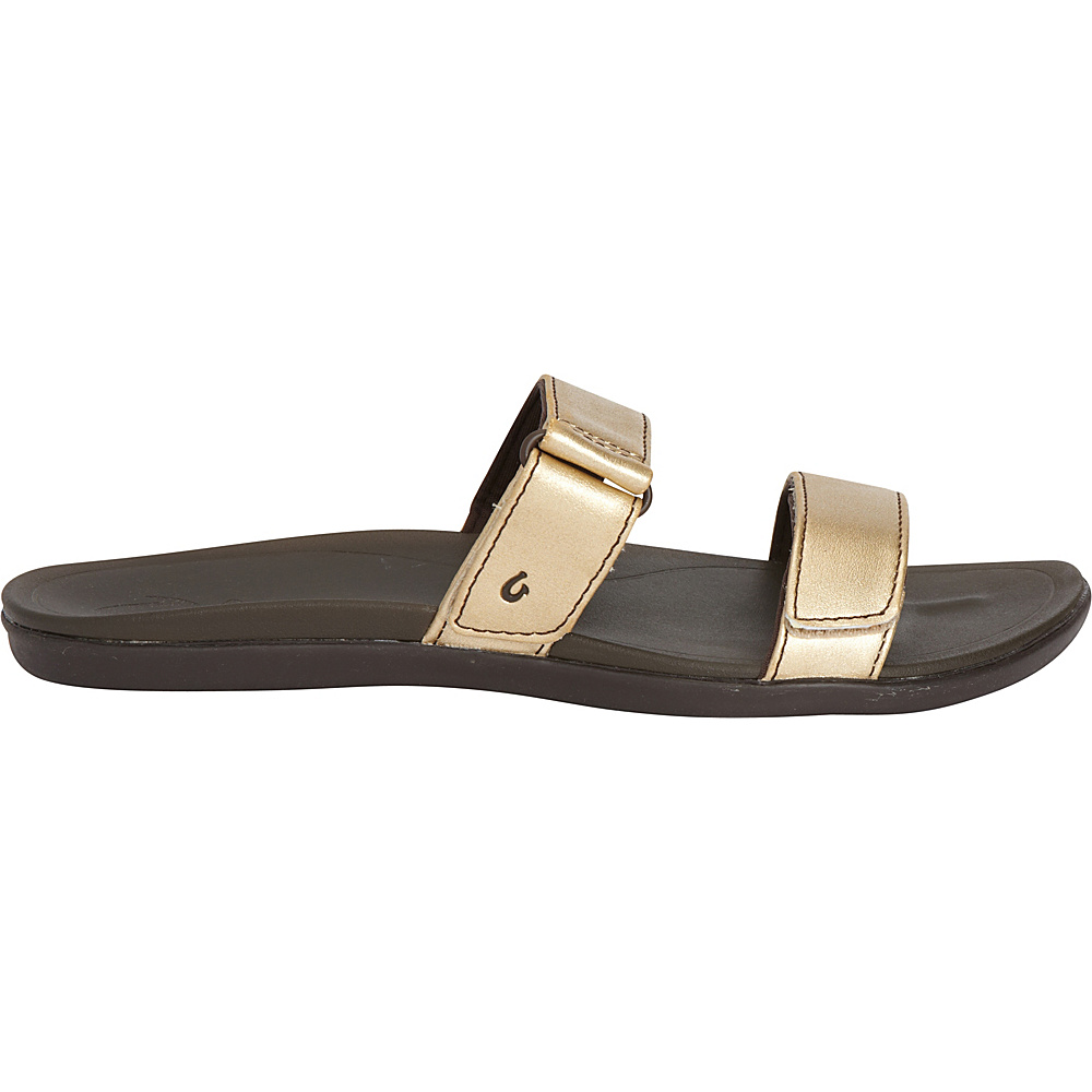 OluKai Womens Kipuka Sandal 10 - Bubbly/Dark Java - OluKai Womens Footwear - Apparel & Footwear, Women's Footwear