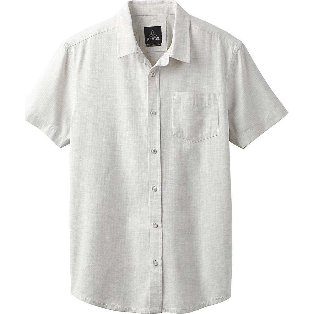 PrAna Ecto Shirt M - Grey Heather - PrAna Mens Apparel - Apparel & Footwear, Men's Apparel