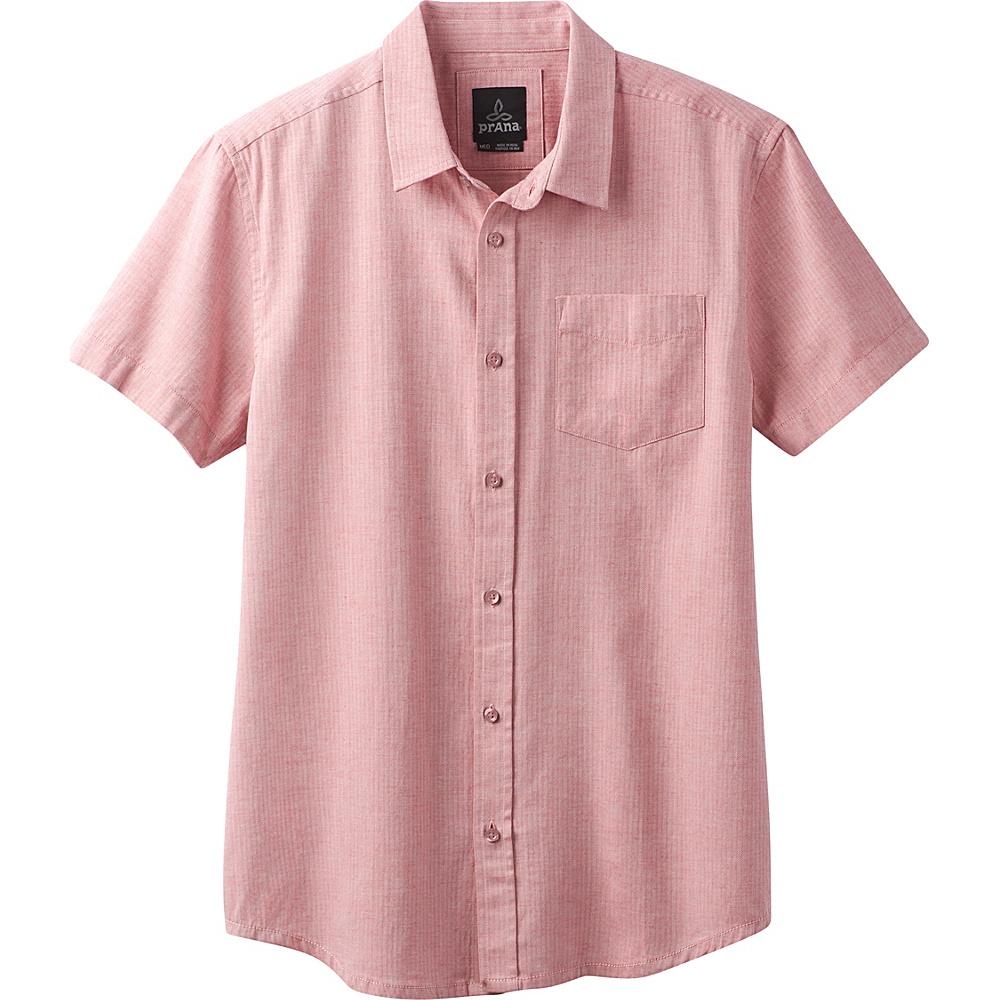 PrAna Ecto Shirt S - Sunstar Red - PrAna Mens Apparel - Apparel & Footwear, Men's Apparel