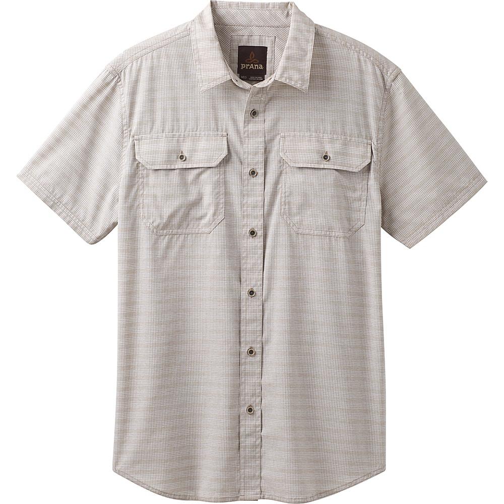 PrAna Cayman Short Sleeve Shirt S - Dark Khaki - PrAna Mens Apparel - Apparel & Footwear, Men's Apparel
