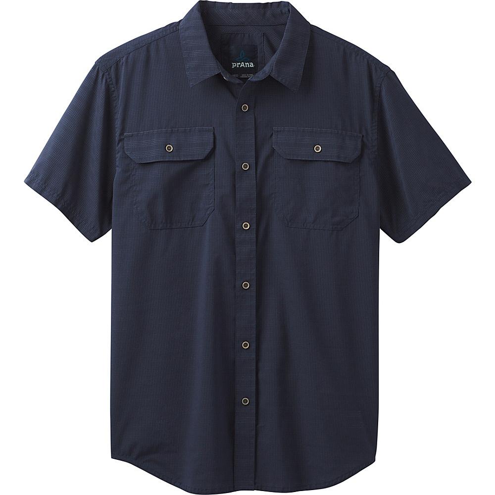 PrAna Cayman Short Sleeve Shirt S - Nautical - PrAna Mens Apparel - Apparel & Footwear, Men's Apparel