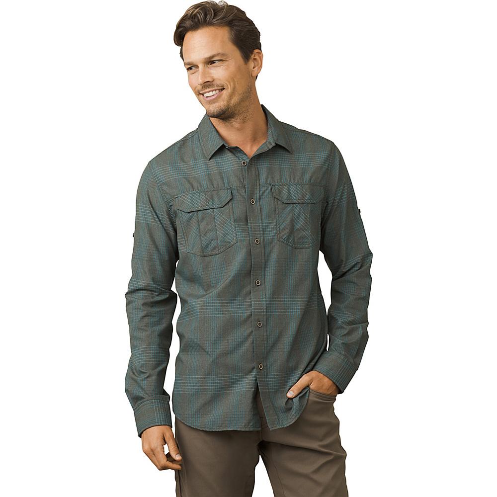 PrAna Citadel Shirt S - Dark Olive - PrAna Mens Apparel - Apparel & Footwear, Men's Apparel