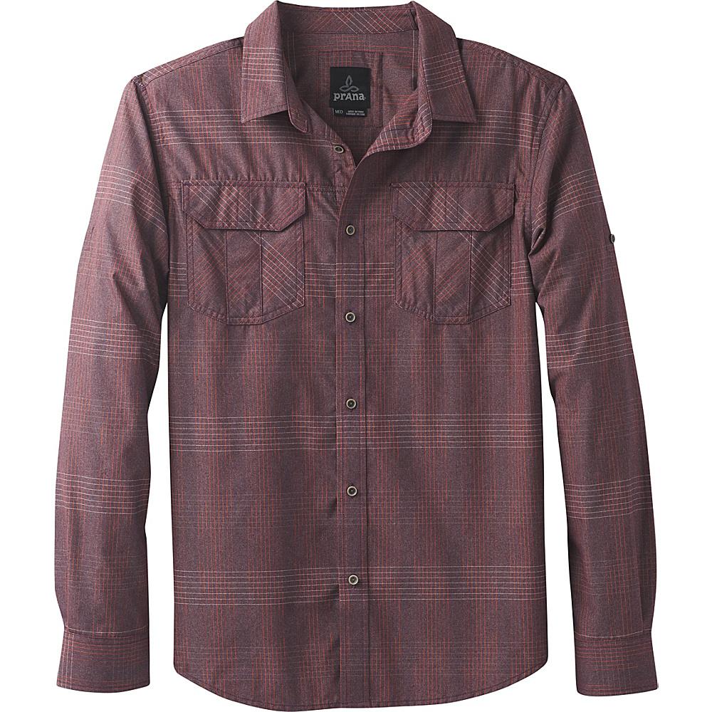 PrAna Citadel Shirt L - Dark Plum - PrAna Mens Apparel - Apparel & Footwear, Men's Apparel