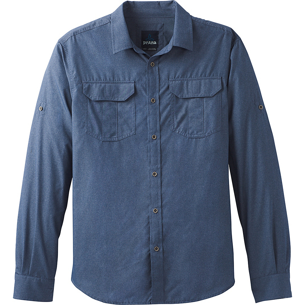 PrAna Citadel Shirt XXL - Equinox Blue - PrAna Mens Apparel - Apparel & Footwear, Men's Apparel