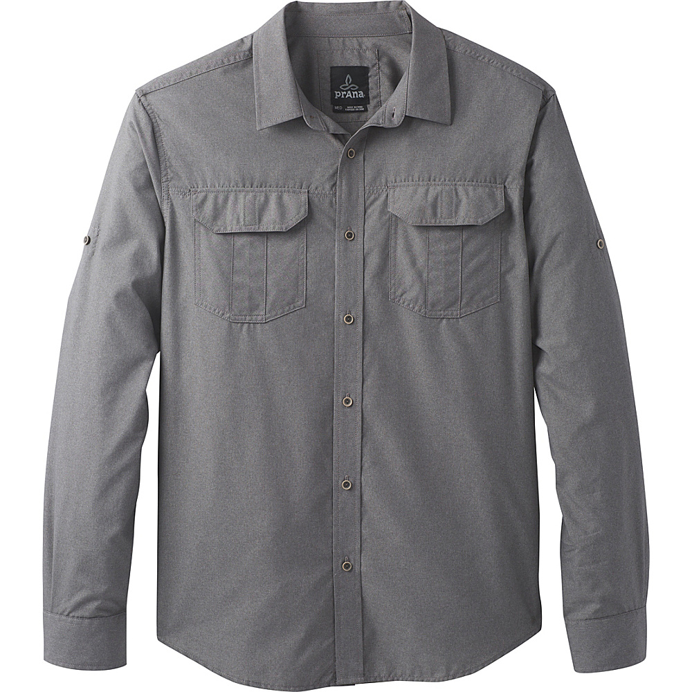 PrAna Citadel Shirt S - Gravel - PrAna Mens Apparel - Apparel & Footwear, Men's Apparel