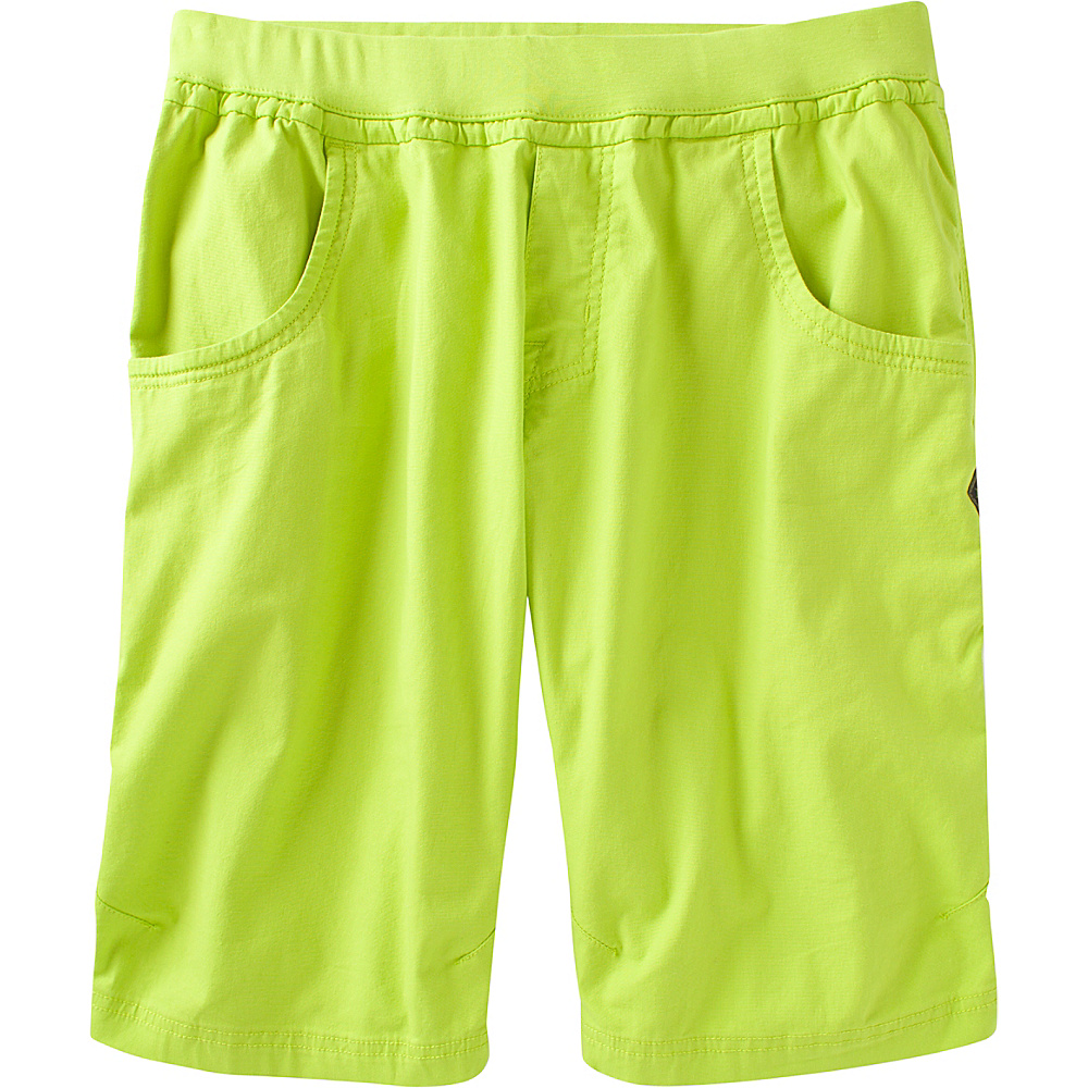 PrAna Zander Short M - 12in - Electric Lime - PrAna Mens Apparel - Apparel & Footwear, Men's Apparel