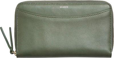 Skagen Compact Leather Zip Wallet Agave - Skagen Designer Handbags