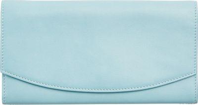 Skagen Continental Leather Flap Wallet Sky Blue - Skagen Designer Handbags