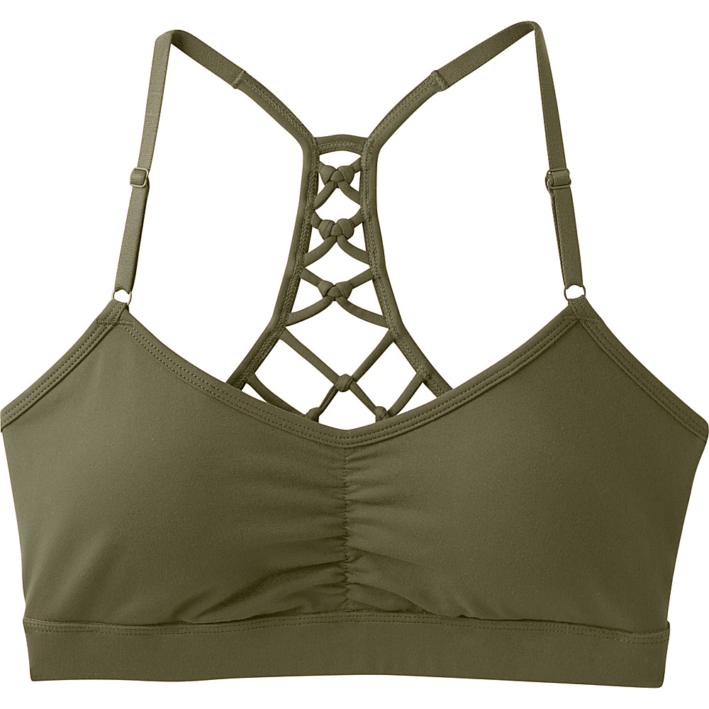 PrAna Elixir Bra L - Cargo Green - PrAna Womens Apparel - Apparel & Footwear, Women's Apparel