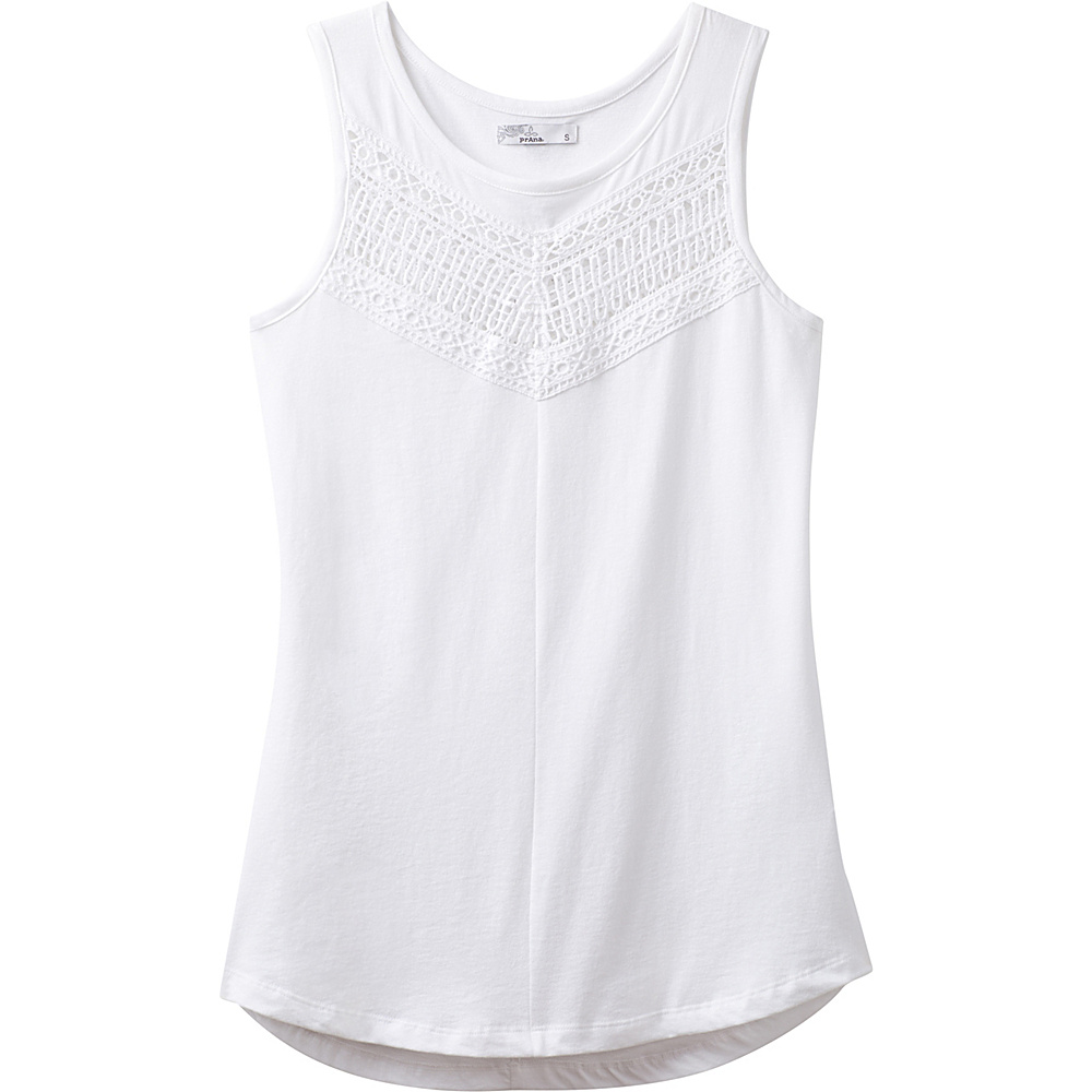 PrAna Petra Swing Top M - White - PrAna Womens Apparel - Apparel & Footwear, Women's Apparel
