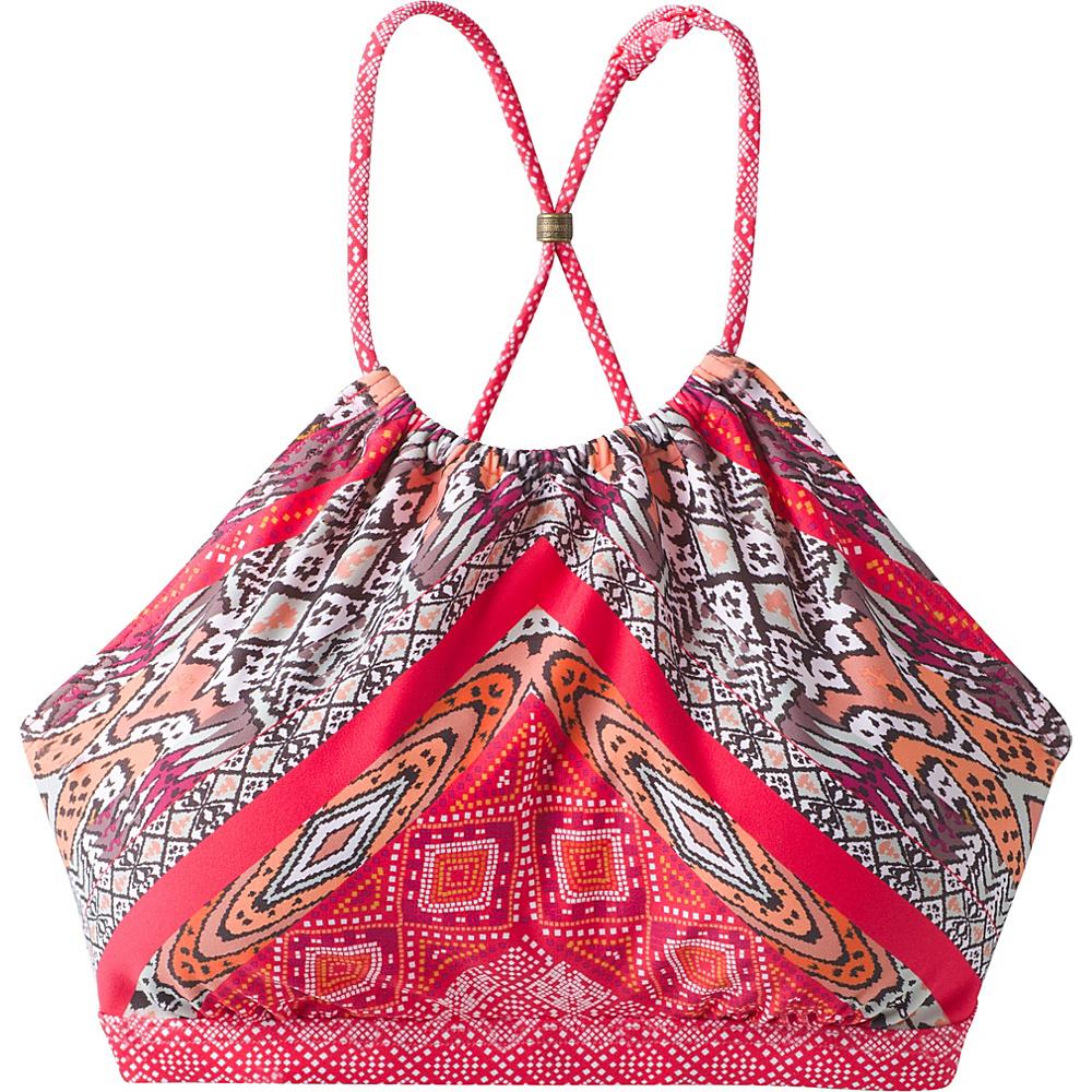 PrAna Brina Swim Top L - Carmine Pink Marrakesh - PrAna Womens Apparel - Apparel & Footwear, Women's Apparel