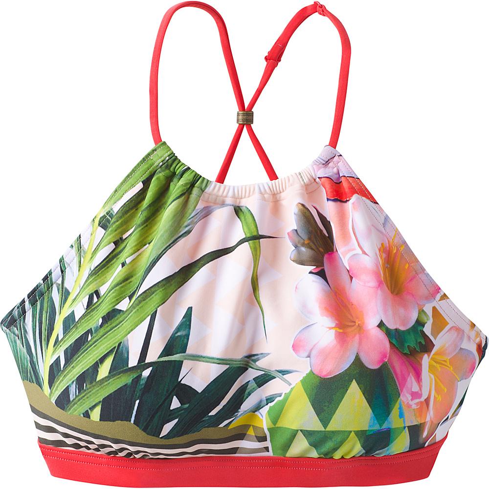 PrAna Brina Swim Top XS - Carmine Pink Paradise - PrAna Womens Apparel - Apparel & Footwear, Women's Apparel