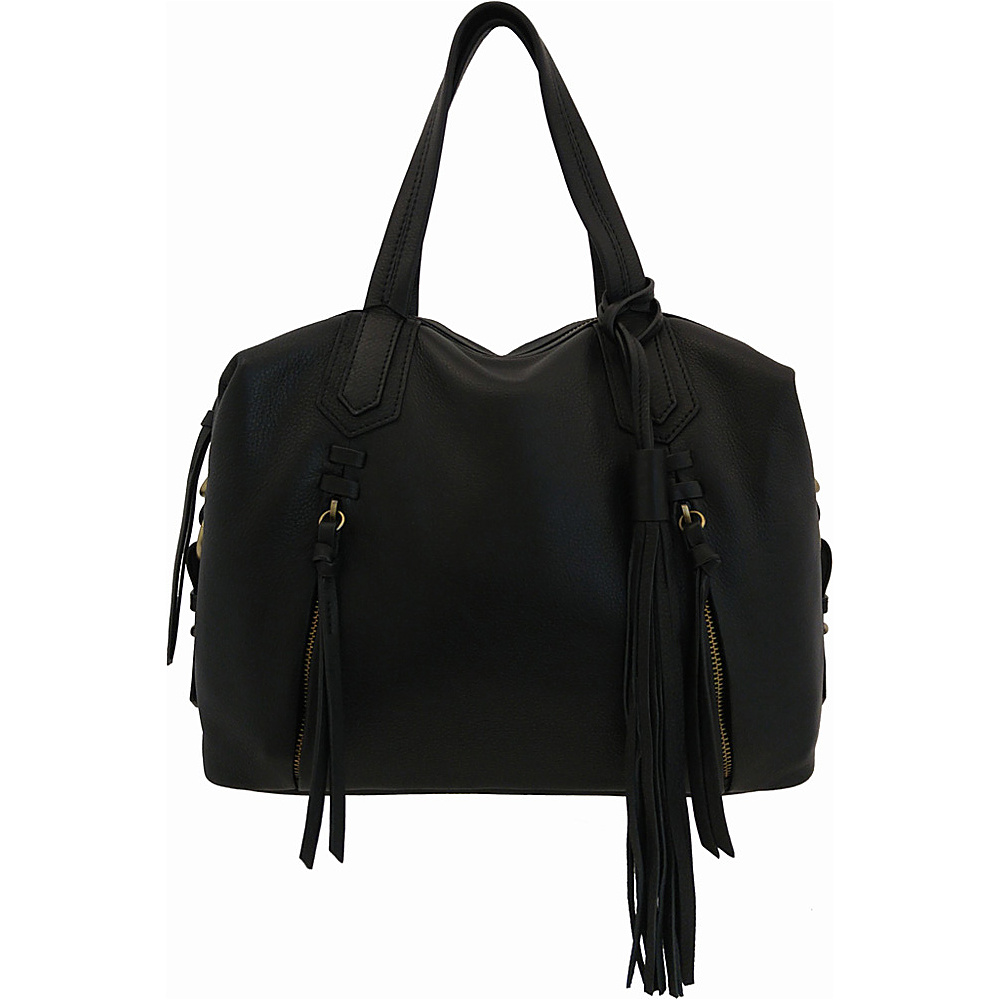 Joelle Hawkens by treesje Candyce Satchel Black Joelle Hawkens by treesje Leather Handbags
