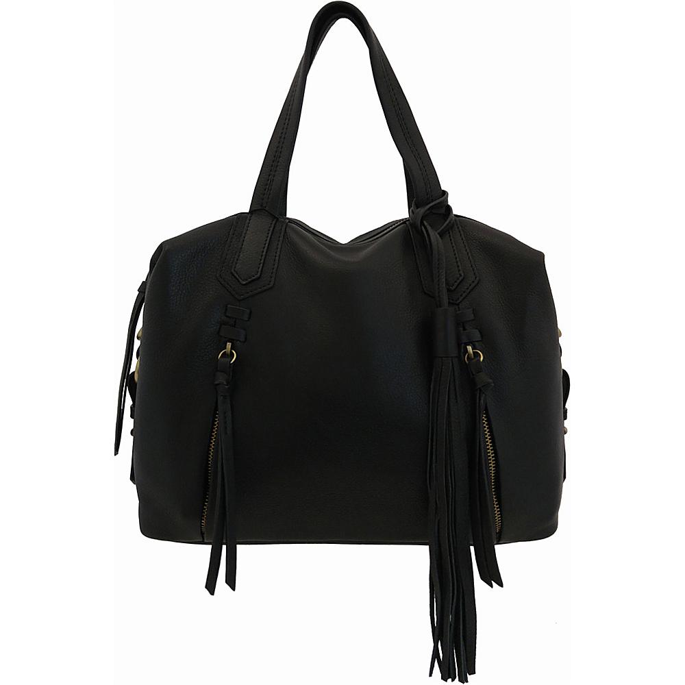 Joelle Hawkens by treesje Candyce Satchel Black Joelle Hawkens by treesje Leather Handbags