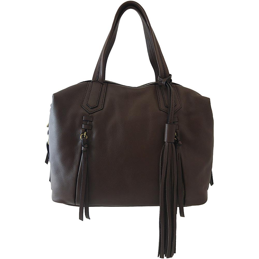 Joelle Hawkens by treesje Candyce Satchel Chocolate Joelle Hawkens by treesje Leather Handbags