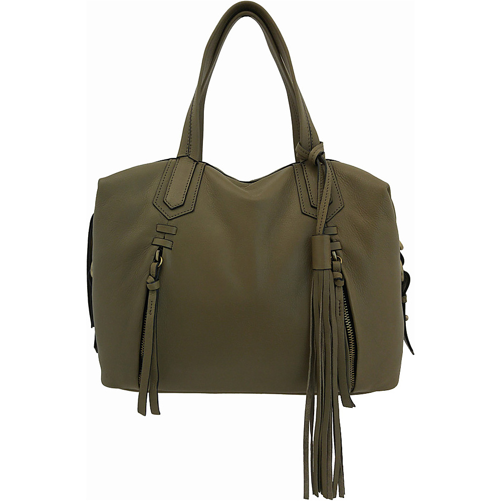 Joelle Hawkens by treesje Candyce Satchel Shale Joelle Hawkens by treesje Leather Handbags