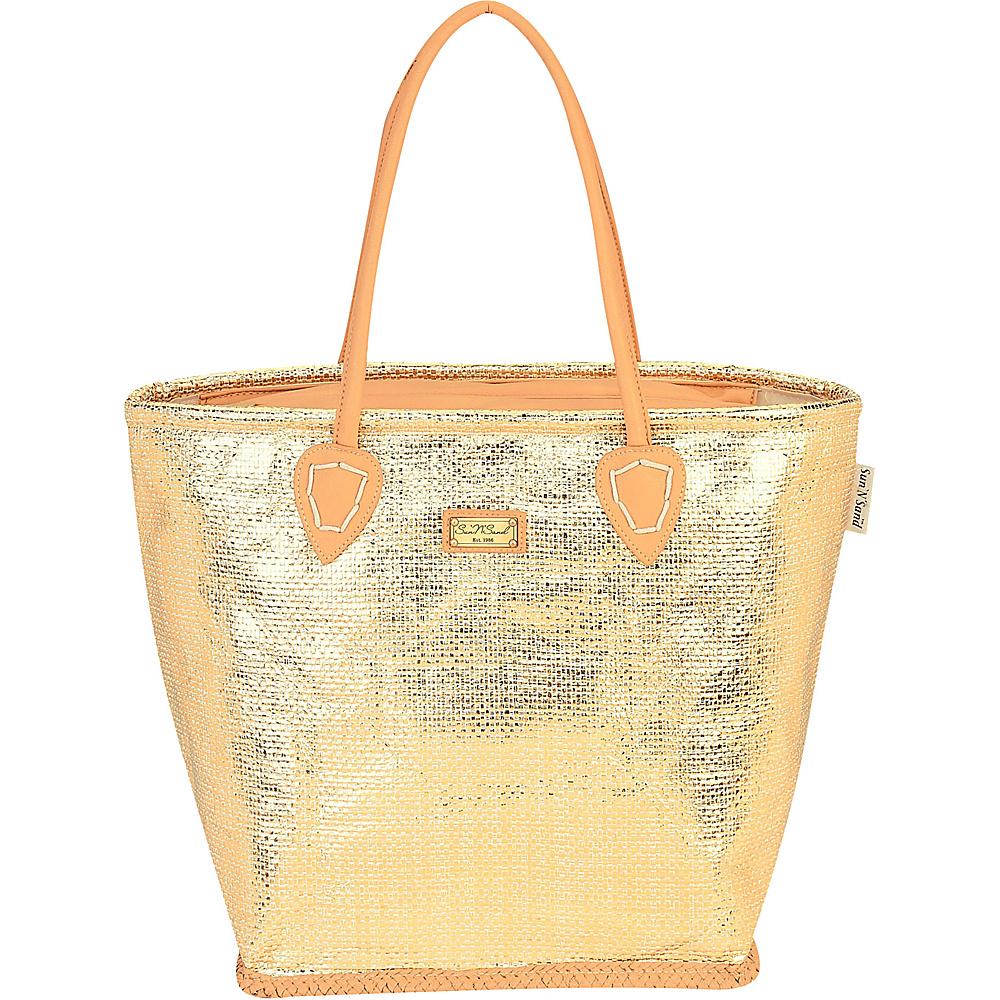 Sun N Sand Natural Straw Handbag Tote Gold - Sun N Sand Straw Handbags - Handbags, Straw Handbags