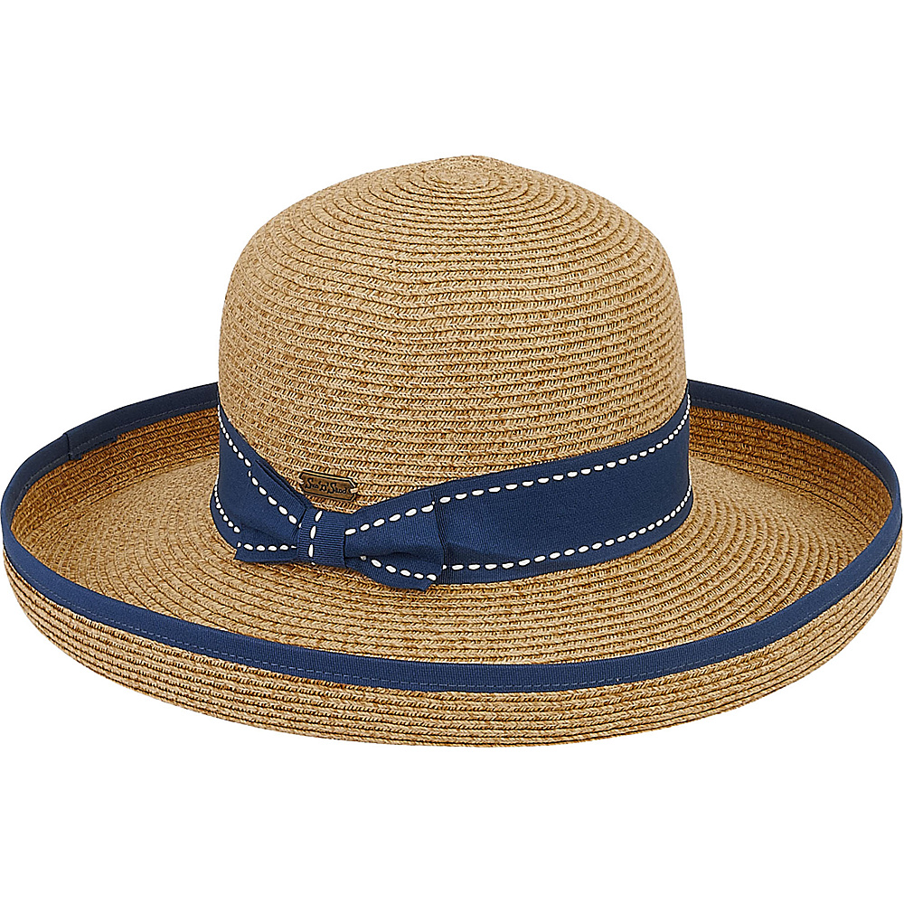 Sun N Sand Paper Braid Hat Navy - Sun N Sand Hats/Gloves/Scarves - Fashion Accessories, Hats/Gloves/Scarves