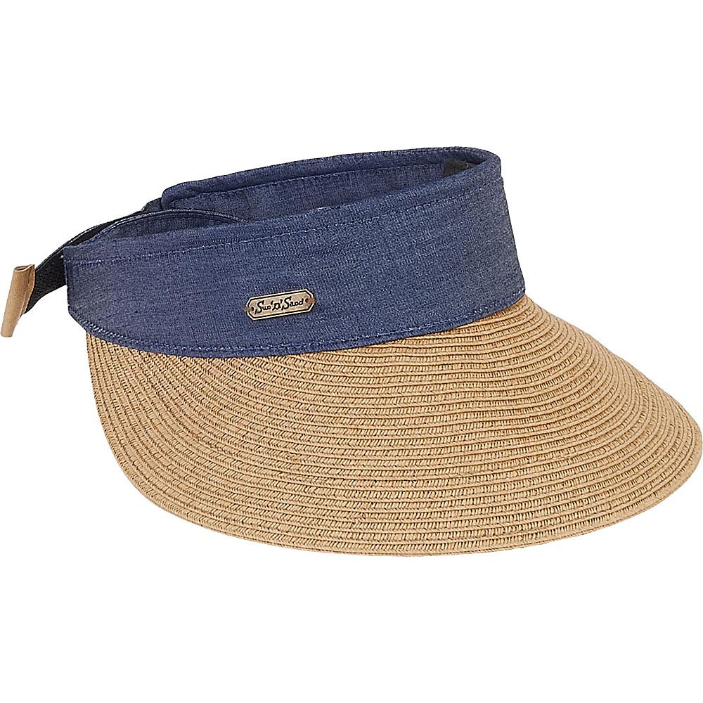 Sun N Sand Visor Tan - Sun N Sand Hats/Gloves/Scarves - Fashion Accessories, Hats/Gloves/Scarves