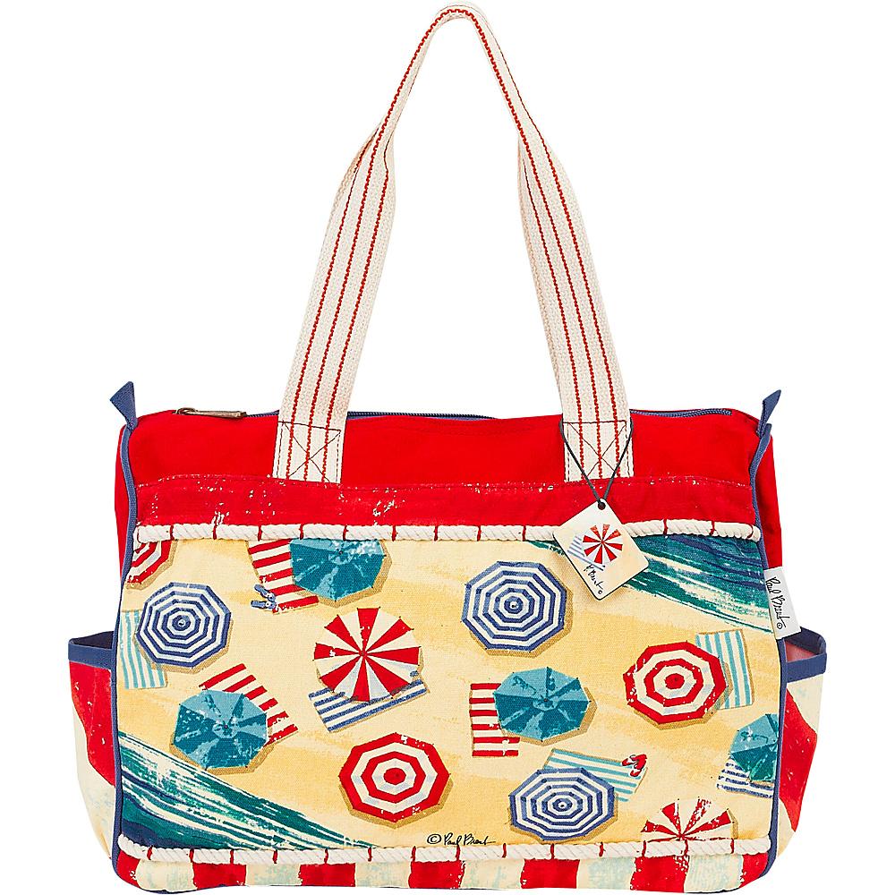 Sun N Sand Paul Brent Artistic Canvas Tote Umbrella Stripes - Sun N Sand Fabric Handbags - Handbags, Fabric Handbags