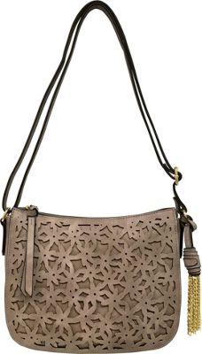 Bueno Cut Out Flower Crossbody Stone - Bueno Leather Handbags