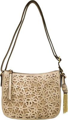 Bueno Cut Out Flower Crossbody Putty - Bueno Leather Handbags