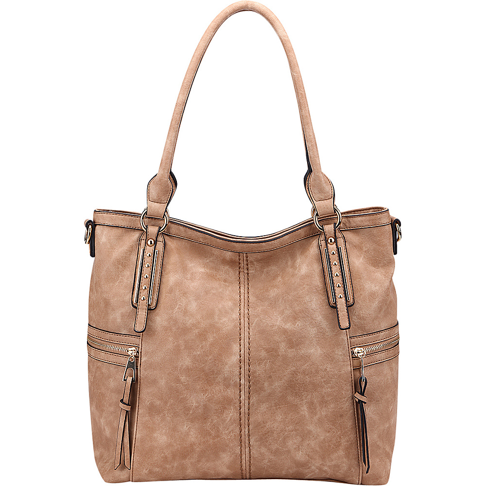 MKF Collection The Perfect Tote Apricot - MKF Collection Manmade Handbags - Handbags, Manmade Handbags