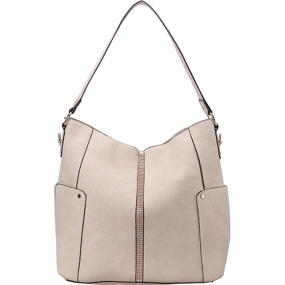 MKF Collection by Mia K. Farrow Matilda Elegant Hobo Beige - MKF Collection by Mia K. Farrow Manmade Handbags - Handbags, Manmade Handbags