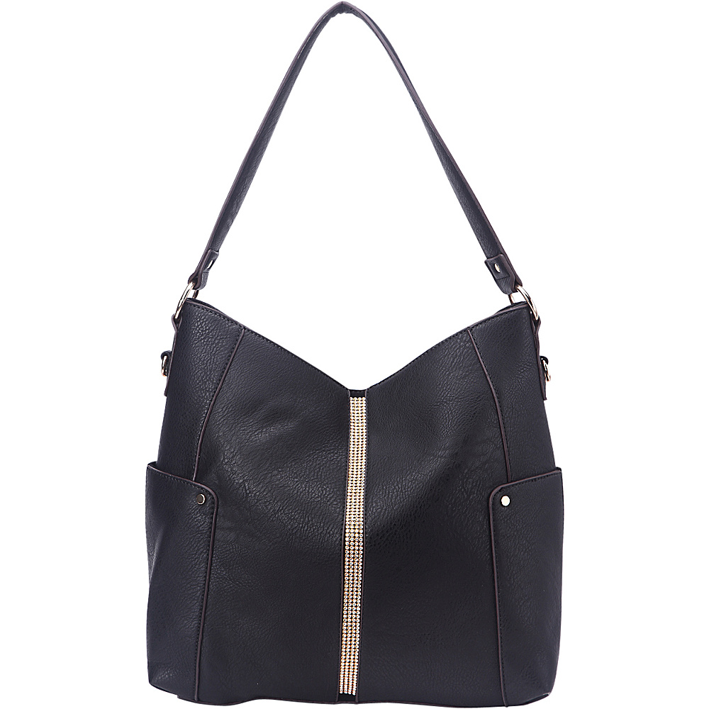 MKF Collection by Mia K. Farrow Matilda Elegant Hobo Black - MKF Collection by Mia K. Farrow Manmade Handbags - Handbags, Manmade Handbags