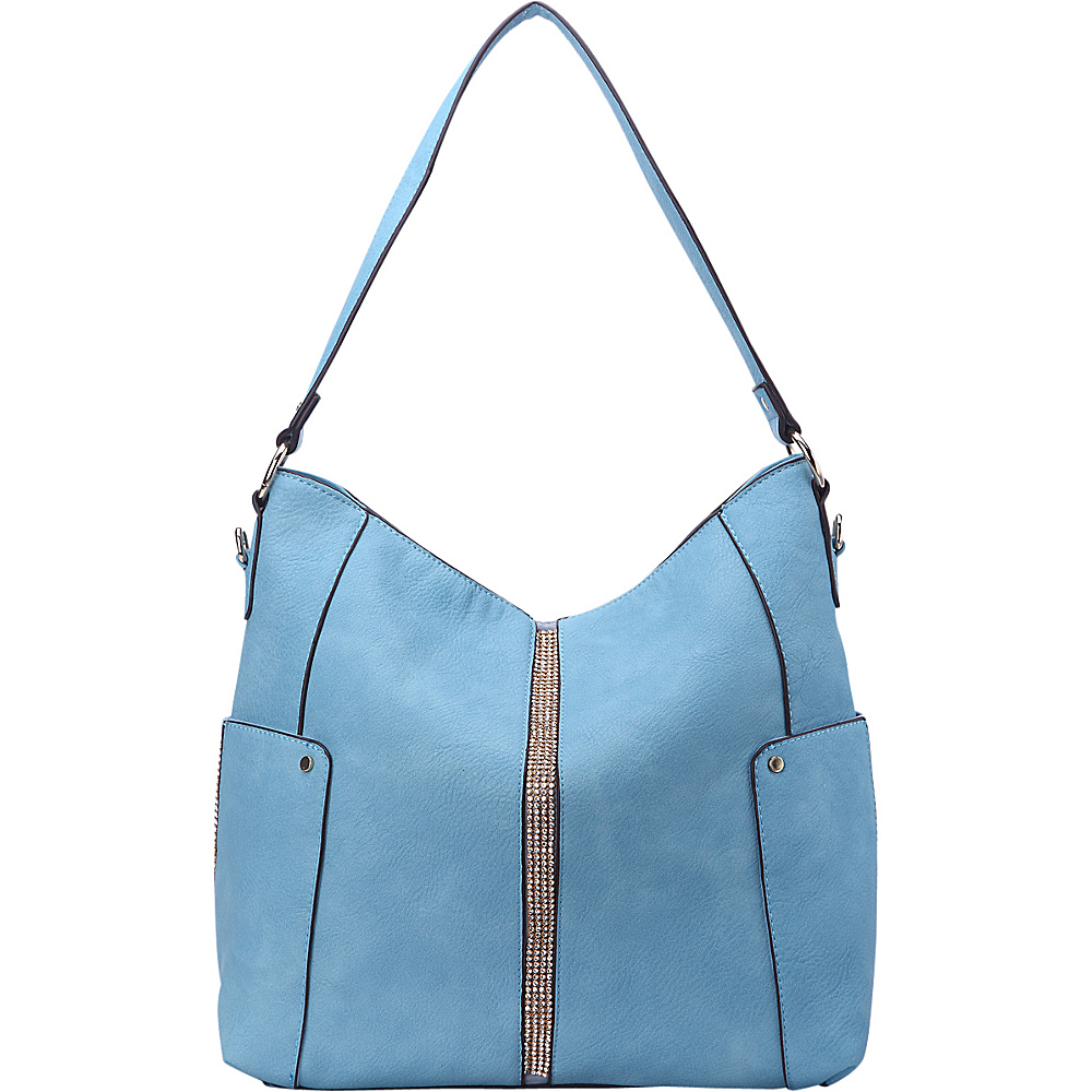 MKF Collection by Mia K. Farrow Matilda Elegant Hobo Blue - MKF Collection by Mia K. Farrow Manmade Handbags - Handbags, Manmade Handbags
