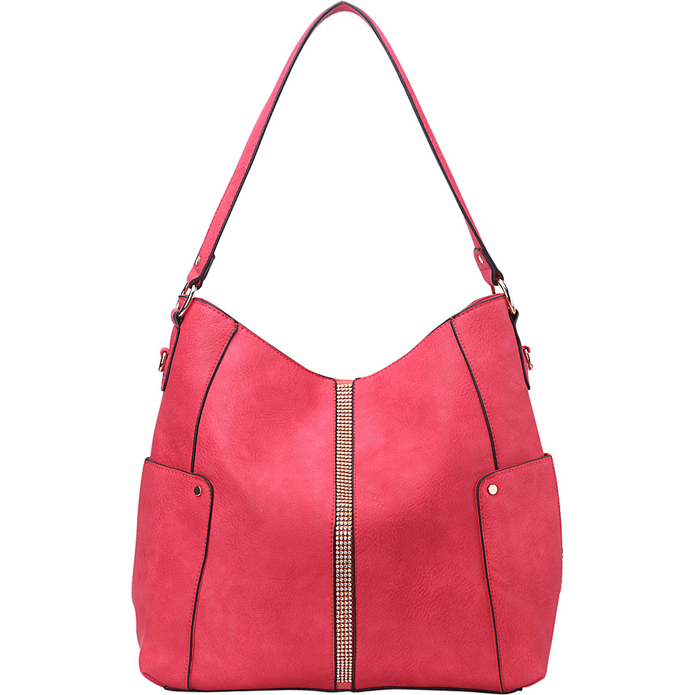 MKF Collection by Mia K. Farrow Matilda Elegant Hobo Coral - MKF Collection by Mia K. Farrow Manmade Handbags - Handbags, Manmade Handbags