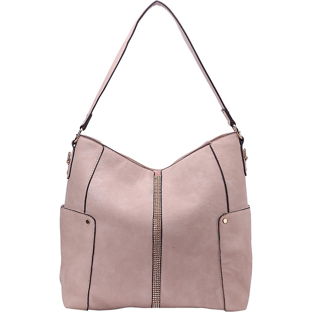 MKF Collection by Mia K. Farrow Matilda Elegant Hobo Light Pink - MKF Collection by Mia K. Farrow Manmade Handbags - Handbags, Manmade Handbags