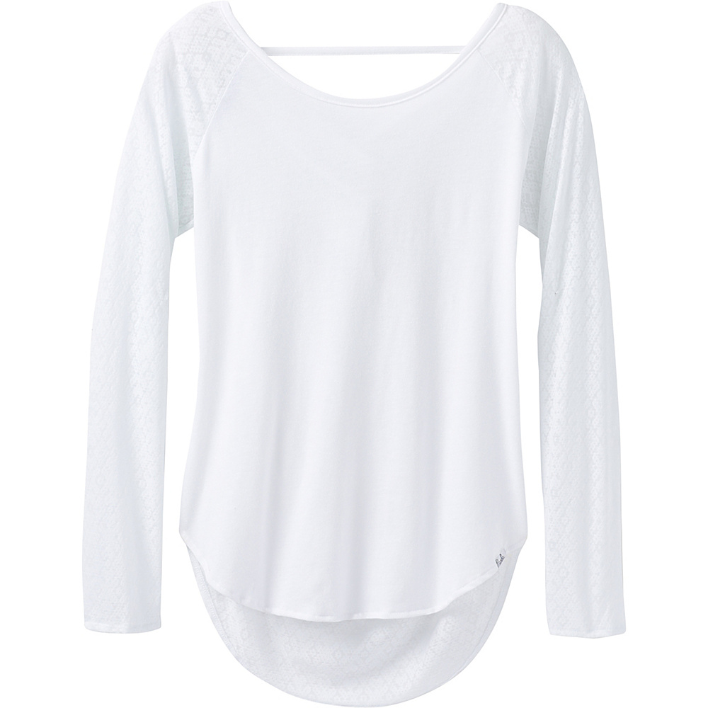 PrAna Salsola Top XL - White - PrAna Womens Apparel - Apparel & Footwear, Women's Apparel