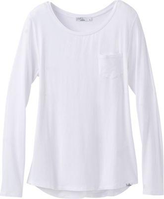 PrAna Foundation Long Sleeve Crew Neck Top S - White - PrAna Women's Apparel