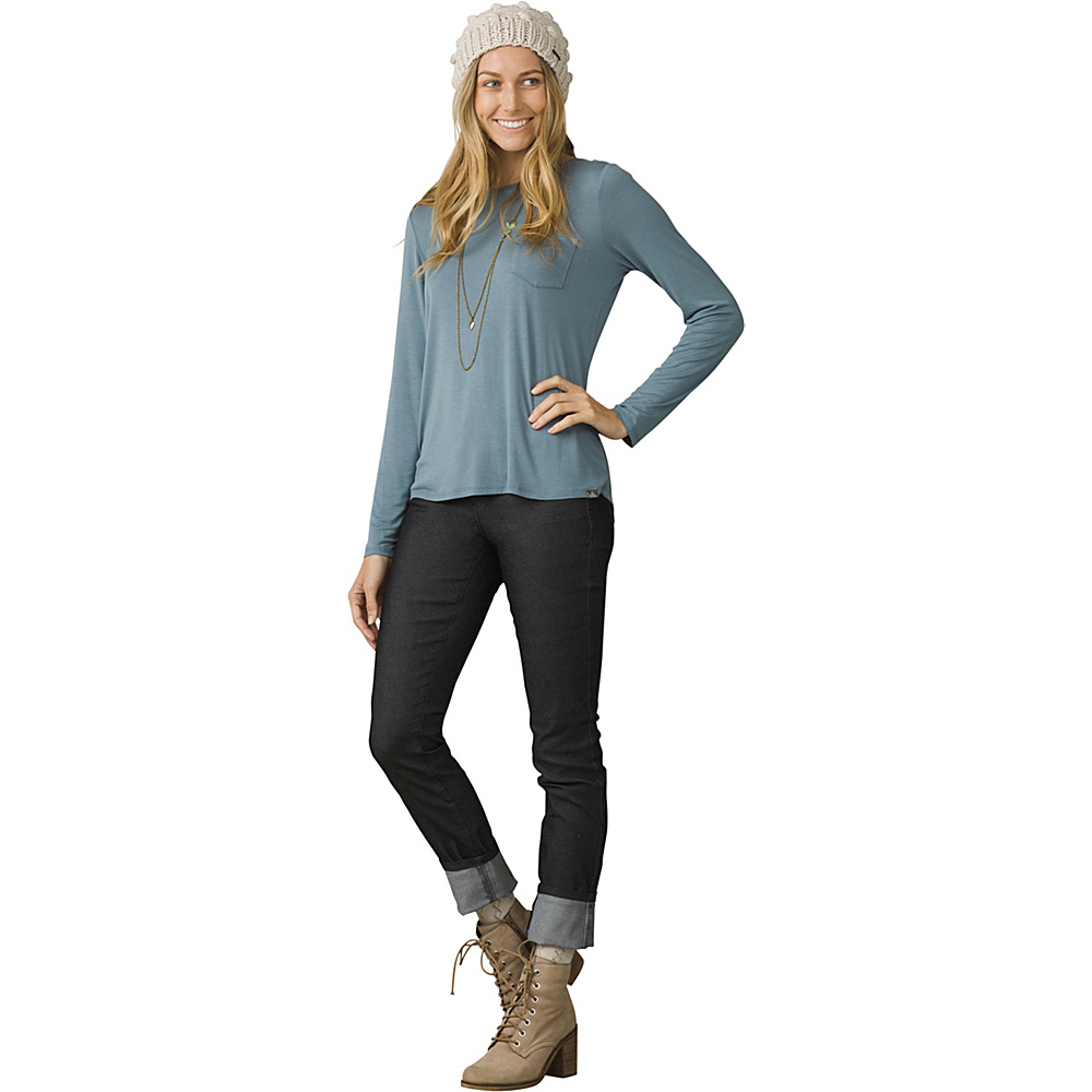 PrAna Foundation Long Sleeve Crew Neck Top XL - Bayou Blue - PrAna Womens Apparel - Apparel & Footwear, Women's Apparel