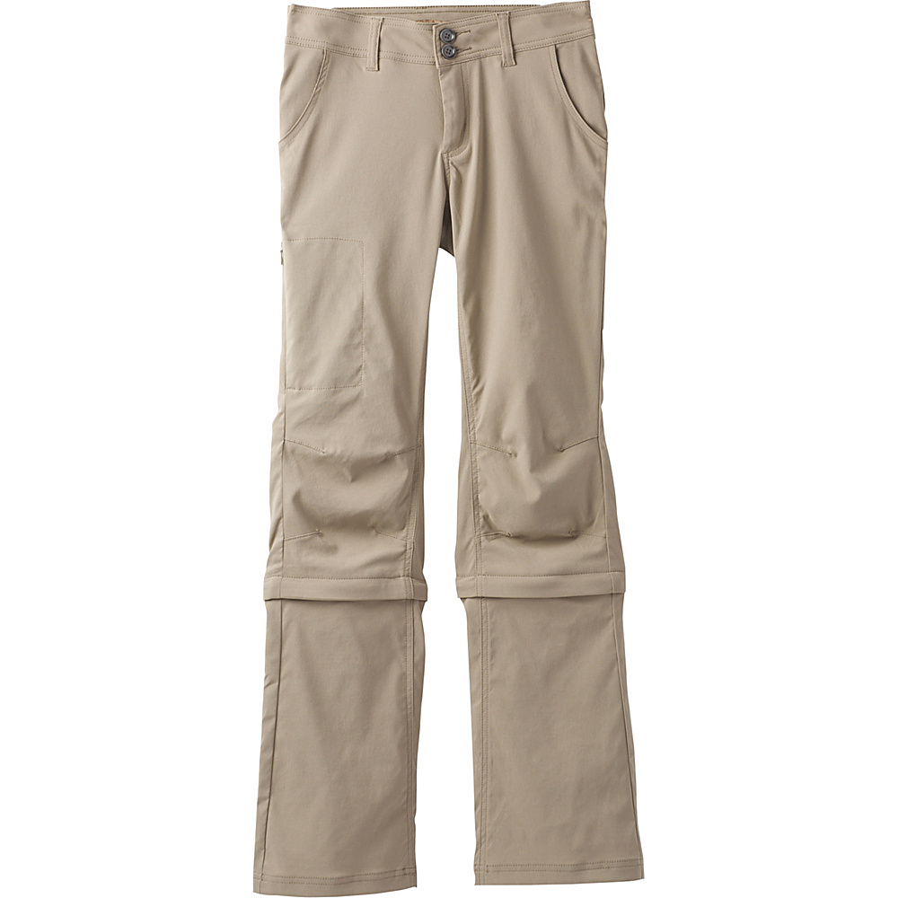 PrAna Halle Convertible Pant - Short Inseam 2 - Dark Khaki - PrAna Womens Apparel - Apparel & Footwear, Women's Apparel