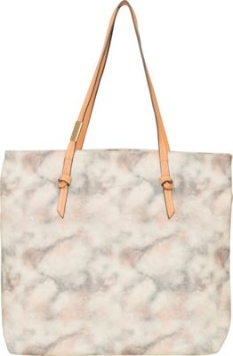 Foley + Corinna Athena Canvas Tote with Leather Handles Candied Peach - Foley + Corinna Fabric Handbags