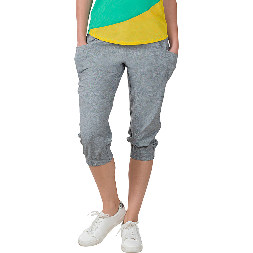 Soybu Skim Capri XS - 21in - Grey Heather - Soybu Womens Apparel - Apparel & Footwear, Women's Apparel