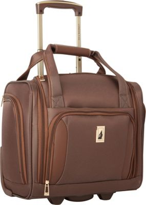 London Fog Kensington Ultra-Lightweight  15 inch 2 Wheel Under the Seat Bag Bronze - London Fog Softside Carry-On