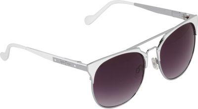 Jessica Simpson Sunwear Vintage Inspired Metal Sunglasses Silver White - Jessica Simpson Sunwear Eyewear