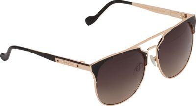 Jessica Simpson Sunwear Vintage Inspired Metal Sunglasses Gold Black - Jessica Simpson Sunwear Eyewear