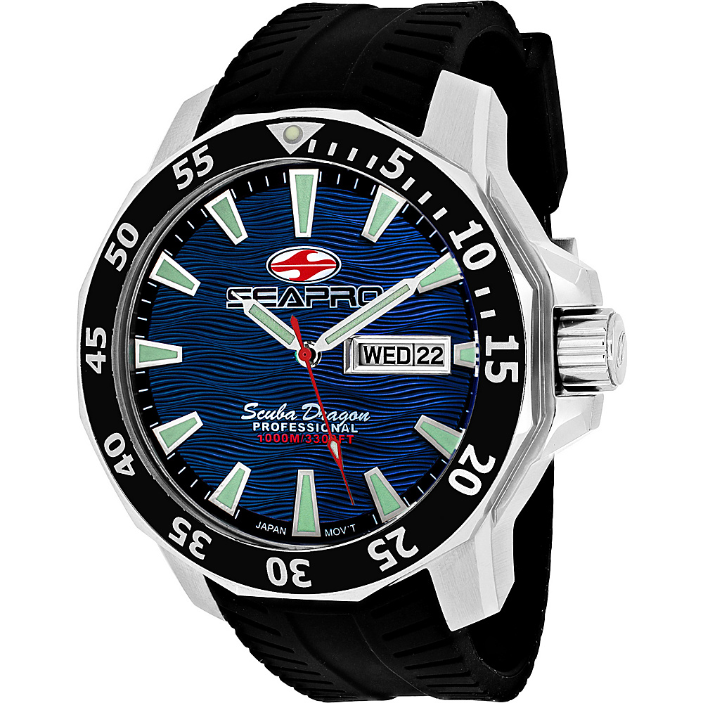 Seapro Watches Men s Scuba Dragon Diver Limited Edition 1000 Me Watch Blue Seapro Watches Watches