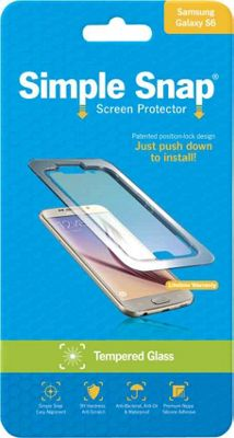 Simple Snap Screen Protector for Samsung Galaxy S6 Tempered Glass Transparent - Simple Snap Electronic Accessories
