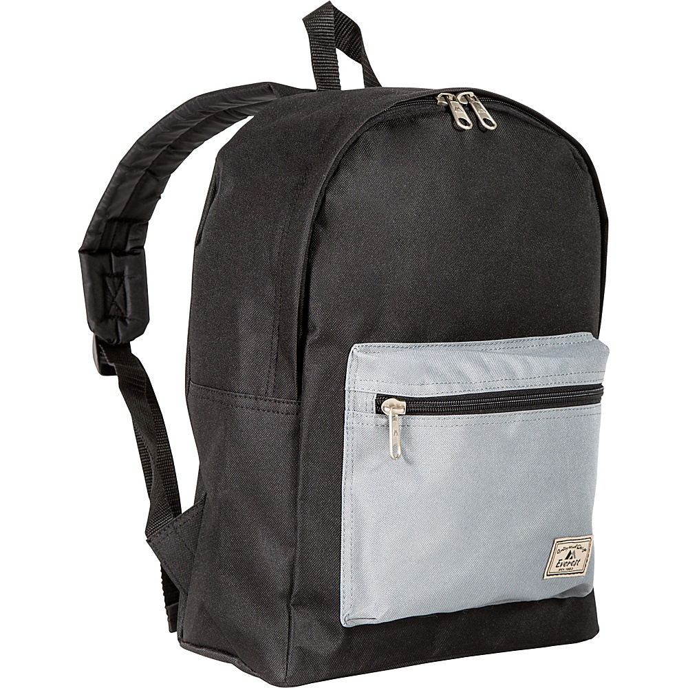 Everest Basic Color Block Backpack Black/Gray - Everest Everyday Backpacks - Backpacks, Everyday Backpacks