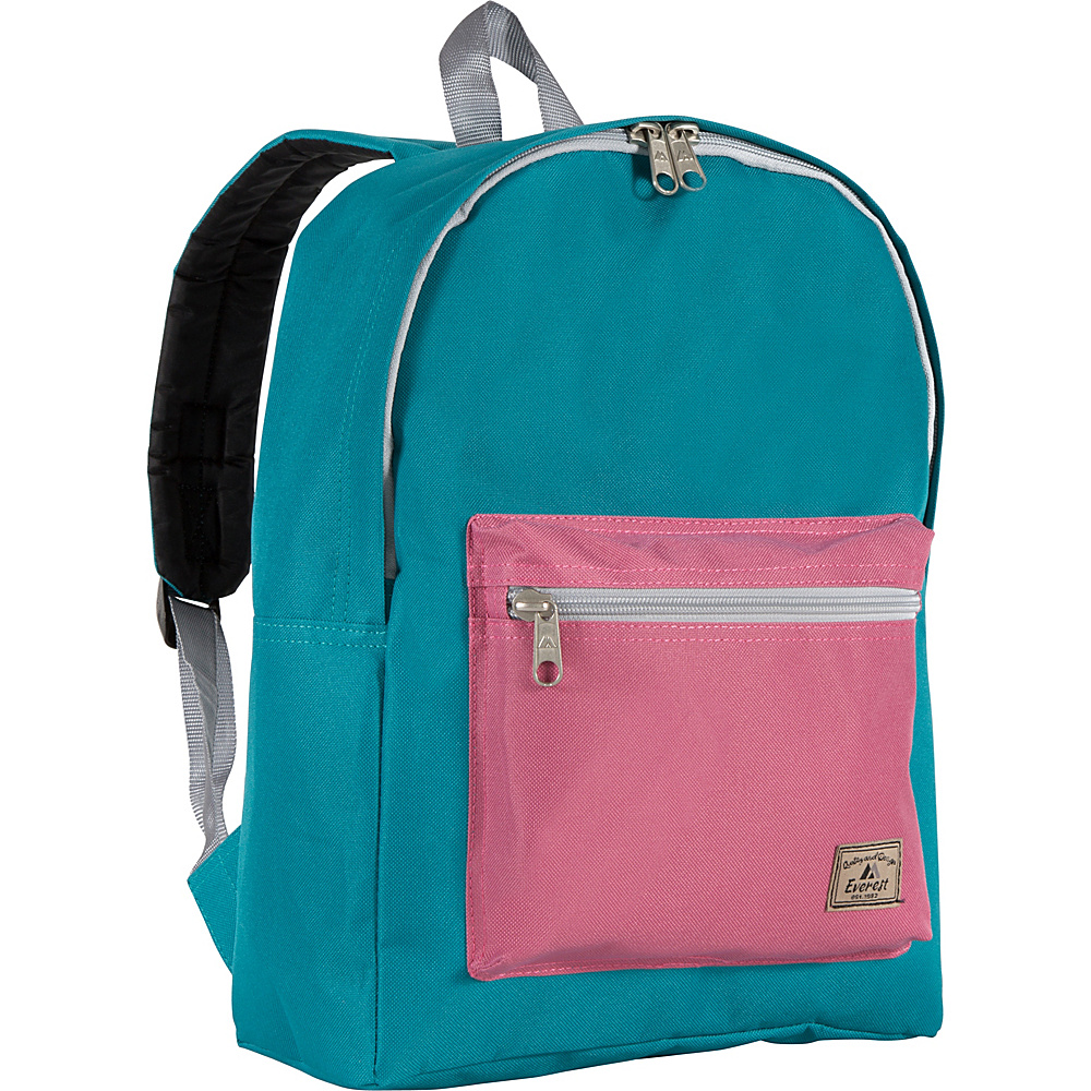 Everest Basic Color Block Backpack Dark Teal/Marsala - Everest Everyday Backpacks - Backpacks, Everyday Backpacks