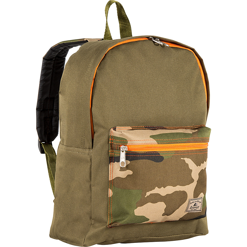 Everest Basic Color Block Backpack Olive/Camo - Everest Everyday Backpacks - Backpacks, Everyday Backpacks