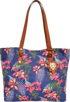 Tommy Bahama Handbags Maui Market Tote Navy Iris - Tommy Bahama Handbags Fabric Handbags