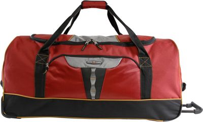 Pacific Coast Extra Large 35 inch Rolling Duffel Bag Burgundy - Pacific Coast Travel Duffels