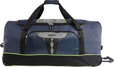 Pacific Coast Extra Large 35 inch Rolling Duffel Bag Navy - Pacific Coast Travel Duffels