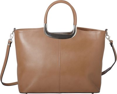 Sharo Leather Bags Everyday Italian Leather Handbag and Shoulder Bag Taupe - Sharo Leather Bags Leather Handbags